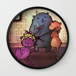 La de da, I'm Goldilocks Wall Clock