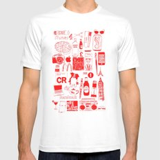 Graphics Design student poster Mens Fitted Tee White MEDIUM