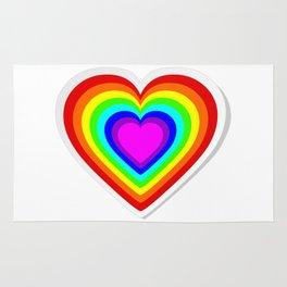 Lbgt rainbow heart Rug