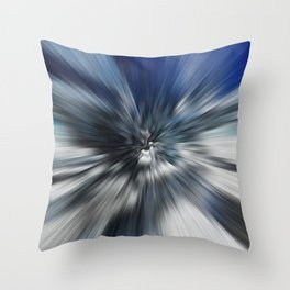 Abstract Black And Blue Starburst Throw Pillow