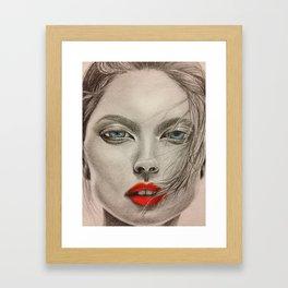 girl pop Framed Art Print