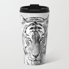 Tiger - Black & White Travel Mug