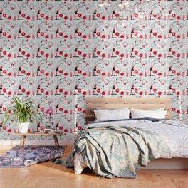 Constructivism Red Geometric Lines Wallpaper