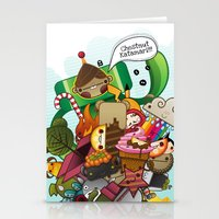 katamari Stationery Cards featuring Chestnut Katamari by Ed Warner