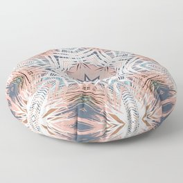 Tribe Coral and Steel Floor Pillow