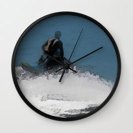 Ready to Make Waves - Jet Skier Wall Clock