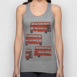London Double Decker Red Bus Unisex Tank Top