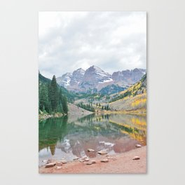 The Maroon Bells in Autumn #2 Canvas Print