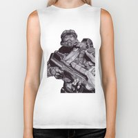 master chief Biker Tanks featuring Master Chief Pen Drawing by DeMoose_Art