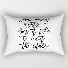 Inspirational Quote One Direction Quote Print Typography Print Quote Printable Art Black And White Rectangular Pillow