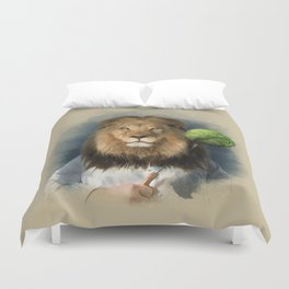 The lion's share Duvet Cover