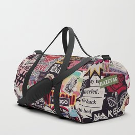 Colorful Sticker Vintage Abstract Pattern Duffle Bag