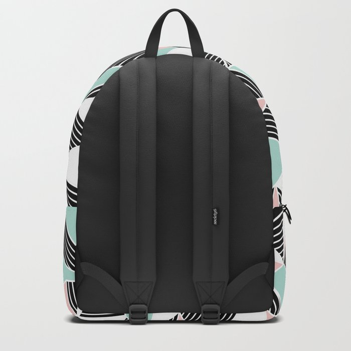 AbLines with Blush Mint Blocks Backpack