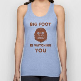 Big Foot Is Watching You Unisex Tank Top