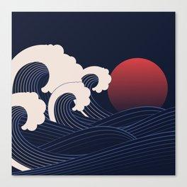 Japanese Sunset Canvas Print