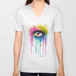 """Rainbow in your eyes"" Unisex V-Neck"