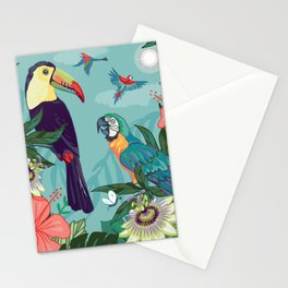 Toucan and Parrot Stationery Cards