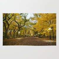 literary Area & Throw Rugs featuring Central Park New York City by Vivienne Gucwa