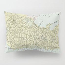 Vintage Map of Portland Maine (1889) Pillow Sham