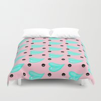 lips Duvet Covers featuring LIPS by RUEI