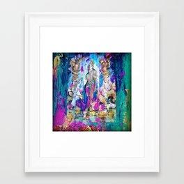 Saraswati, Lakshmi & Ganesha Framed Art Print