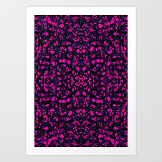 Pink crystals Art Print