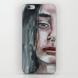 Watercolor portrait, art work, beautiful original girl, painting, modern iPhone Skin