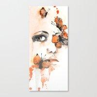 butterflies Canvas Prints featuring Butterflies by Jenny Viljaniemi