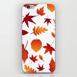 Fallen leaves iPhone Skin