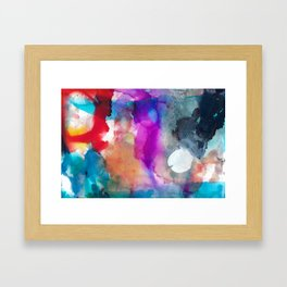 Clockwise white 2 Framed Art Print