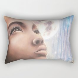 The Moon - Tarot Card Art Rectangular Pillow