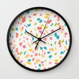 Colorful Animal Print Wall Clock