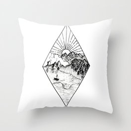 New Zealand's beauty *Te Anau Throw Pillow