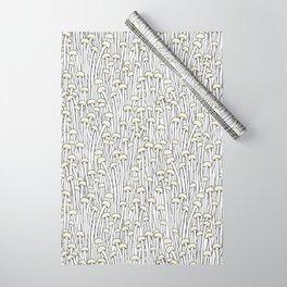 Enokitake Mushrooms (pattern) Wrapping Paper