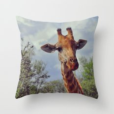 Closer, closer, how about now? Throw Pillow