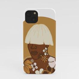 tyler, the creator x vintage floral portrait no.01 iPhone Case