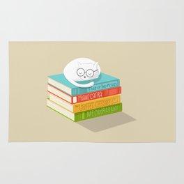 The Cat Loves Books Rug