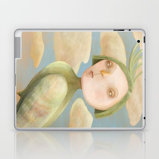 Green Crested Ladytoo Laptop & iPad Skin