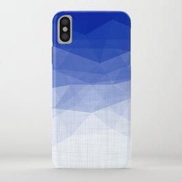 Imperial Lapis Lazuli - Triangles Minimalism Geometry iPhone Case