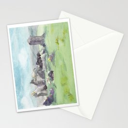 Loughcrew cairns stone circle watercolor painting of Ireland Stationery Cards