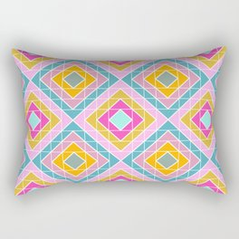 Geo Diamonds in Bright Colors Rectangular Pillow