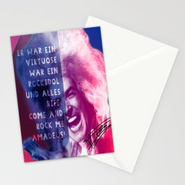 Rock Me Amadeus Stationery Cards