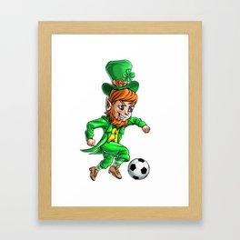 Leprechaun Soccer Framed Art Print