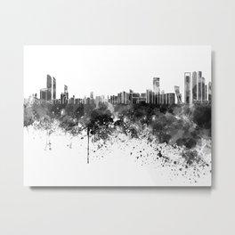 Abu Dhabi skyline in black watercolor Metal Print