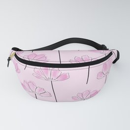 Cosmos Flower Pattern  Fanny Pack