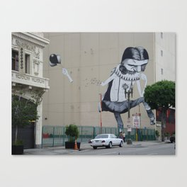 Street Art Downtown Los Angeles  Canvas Print