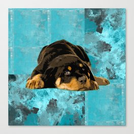 Rottweiler  - Metzgerhund Puppy Canvas Print