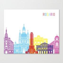 Rosario  skyline pop Canvas Print