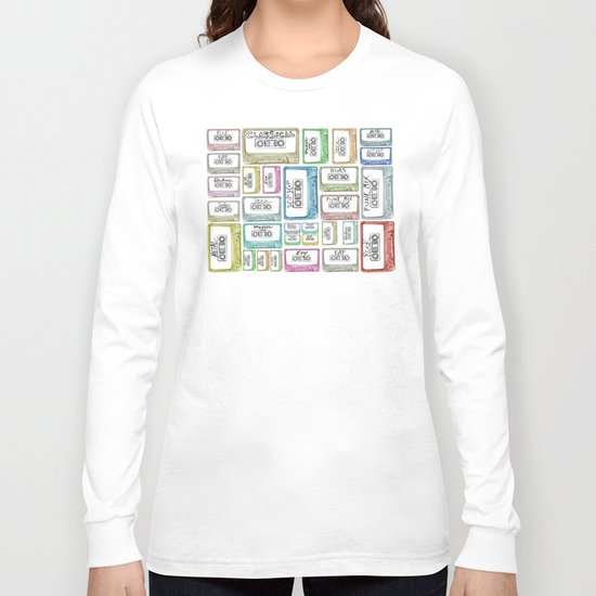 Tape Mix 2 Vintage Cassette Music Collection Long Sleeve T-shirt