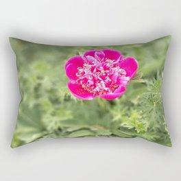 Lonely peony Rectangular Pillow